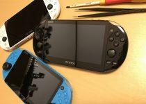 PS Vita(PCH2000)の液晶割れ+アナログスティック動作不良を分解修理する方法!